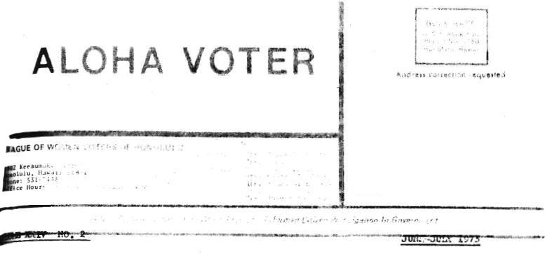 Aloha Voter June July 1973 June July Calendar